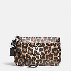 COACH F52230 Peyton Ocelot Print Medium Wristlet SILVER/NATURAL MULTI