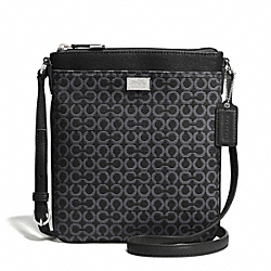 COACH F52284 - MADISON OP ART NEEDLEPOINT SWINGPACK SILVER/BLACK