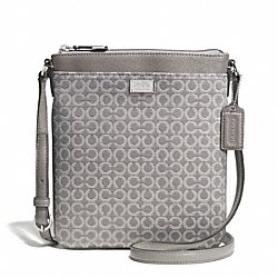 COACH F52284 Madison Op Art Needlepoint Swingpack SILVER/LIGHT GREY