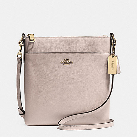 COACH NORTH/SOUTH SWINGPACK IN EMBOSSED TEXTURED LEATHER - LIGHT GOLD/GREY BIRCH - f52348