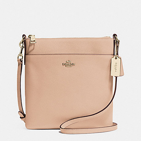 COACH F52348 NORTH/SOUTH SWINGPACK IN EMBOSSED TEXTURED LEATHER LIGHT-GOLD/BEECHWOOD