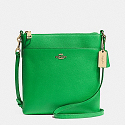 NORTH/SOUTH SWINGPACK IN EMBOSSED TEXTURED LEATHER - f52348 - LIGRN