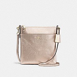 NORTH/SOUTH SWINGPACK - f52348 - PLATINUM/LIGHT GOLD