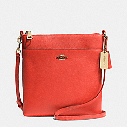 NORTH/SOUTH SWINGPACK IN EMBOSSED TEXTURED LEATHER - f52348 - LIWM3