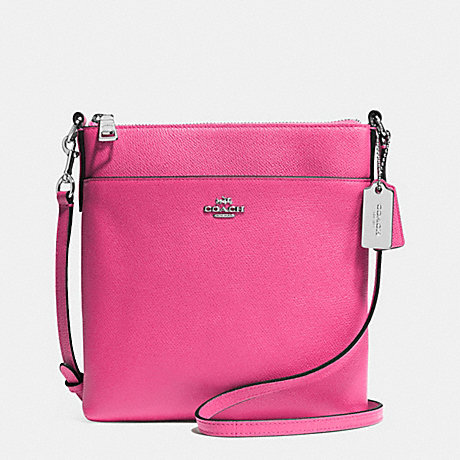 93a23feb2970b NORTH SOUTH SWINGPACK IN EMBOSSED TEXTURED LEATHER - COACH F52348 - SILVER  DAHLIA