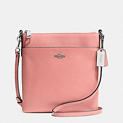 COACH F52348 Courier Crossbody In Crossgrain Leather  SILVER/PINK