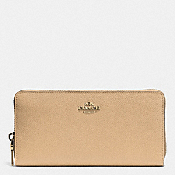 COACH F52372 Accordion Zip Wallet In Embossed Textured Leather LINUD