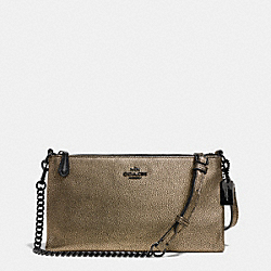 COACH F52379 - KYLIE CROSSBODY IN METALLIC LEATHER  VA/BRASS