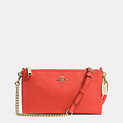 COACH F52385 - KYLIE CROSSBODY IN EMBOSSED TEXTURED LEATHER LIGHT GOLD/WATERMELON