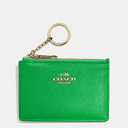 COACH F52394 Mini Skinny In Embossed Textured Leather LIGRN