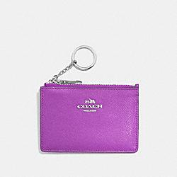 COACH F52394 Mini Skinny Id Case SV/ORCHID