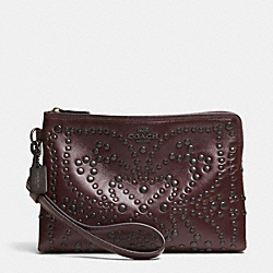 COACH F52402 Mini Studs Large Wristlet In Leather QBOXB