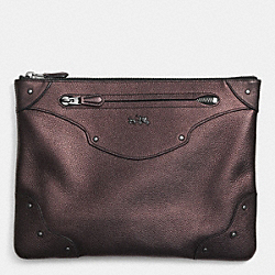 COACH F52419 Rivets Large Folio In Leather QBBRZ