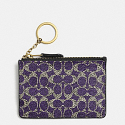COACH F52457 Mini Skinny In Signature LIGHT GOLD/VIOLET/BLACK