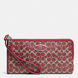 COACH F52462 Wallet In Signature  SILVER/RED/RED
