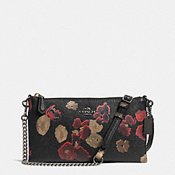 COACH F52543 - KYLIE CROSSBODY IN FLORAL PRINT LEATHER  BN/BLACK MULTI