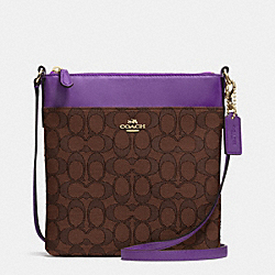 COACH F52576 - COURIER CROSSBODY IN SIGNATURE  LIDK7