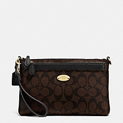 COACH F52619 Signature Pop Pouch LIGHT GOLD/BROWN/BLACK