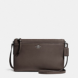 EAST/WEST SWINGPACK IN LEATHER - f52638 -  SILVER/MINK