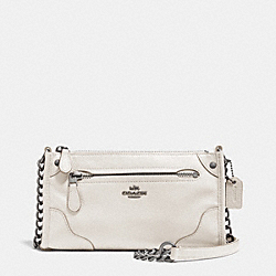 COACH F52646 Mickie Crossbody In Grain Leather ANTIQUE NICKEL/CHALK