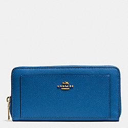 COACH F52648 Accordion Zip Wallet In Leather  IMDEN