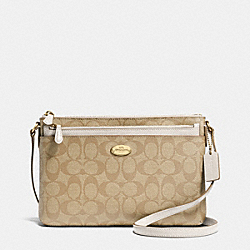 COACH F52657 East/west Pop Crossbody In Signature  LIGHT GOLD/LIGHT KHAKI/CHALK