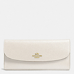 COACH F52689 Soft Wallet In Leather LIGHT GOLD/CHALK