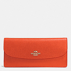 COACH F52689 Soft Wallet In Leather IMITATION GOLD/PEPPERPER