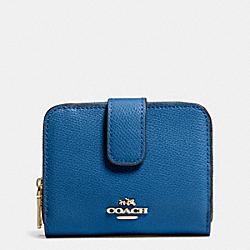 COACH F52692 Medium Zip Around Wallet In Leather  IMDEN