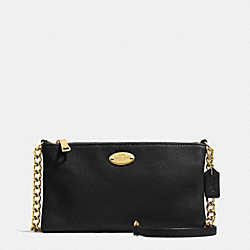 COACH F52709 - QUINN CROSSBODY IN PEBBLE LEATHER LIGHT GOLD/BLACK