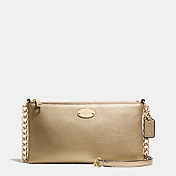 COACH F52709 - QUINN CROSSBODY IN PEBBLE LEATHER IMITATION GOLD/GOLD