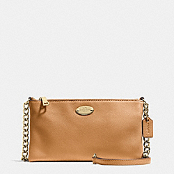 COACH F52709 - QUINN CROSSBODY IN PEBBLE LEATHER LIGHT GOLD/LIGHT SADDLE