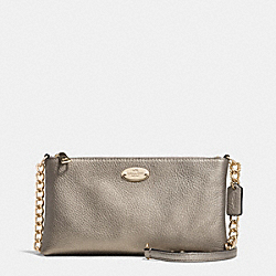 COACH F52709 Quinn Crossbody In Pebble Leather LIGHT GOLD/METALLIC