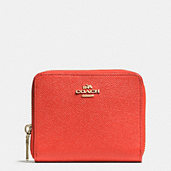 COACH F52766 Medium Continental Wallet In Crossgrain Leather LIWM3