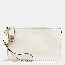 COACH F52778 Turnlock Wristlet 21 In Whiplash Leather LIGHT GOLD/CHALK