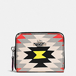COACH F52787 Zip Around Coin Case In Printed Crossgrain Leather SVE2M