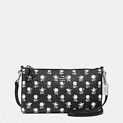 COACH F52834 Herald Crossbody In Printed Crossgrain Leather SILVER/BK PCHMNT BDLND FLR