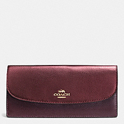 COACH F52845 Soft Wallet In Bicolor Crossgrain Leather IME8I