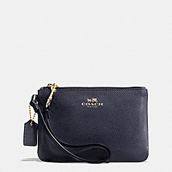 COACH F52850 Small Wristlet In Crossgrain Leather  LIGHT GOLD/MIDNIGHT