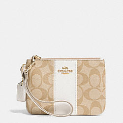 COACH F52860 Small Wristlet In Signature Canvas LIGHT GOLD/LIGHT KHAKI/CHALK