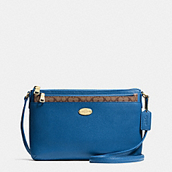 COACH F52881 - EAST/WEST POP CROSSBODY IN CROSSGRAIN LEATHER  IMDEN