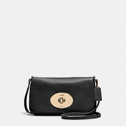 COACH F52896 Liv Crossbody Pouch LIGHT GOLD/BLACK