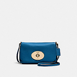LIV CROSSBODY POUCH - f52896 - LIGHT GOLD/DENIM