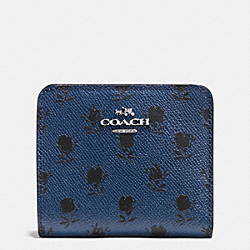 COACH F52966 Small Wallet In Printed Crossgrain Leather SVDSS