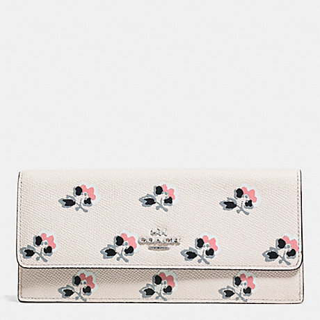 COACH f52967 SOFT WALLET IN PRINTED LEATHER  SVDRL