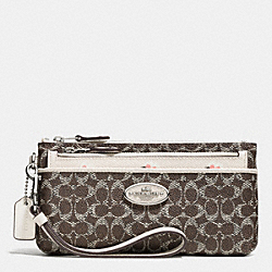 COACH F53015 Zippy Wallet With Pop Up Pouch In Signature Embossed Pebble Leather SVDS2