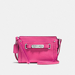 COACH F53032 Coach Swagger Wristlet In Pebble Leather SILVER/DAHLIA