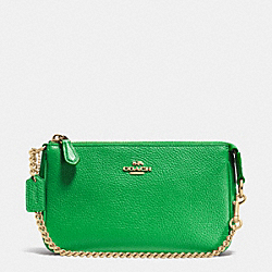 COACH F53077 Nolita Wristlet 19 In Pebble Leather LIGRN