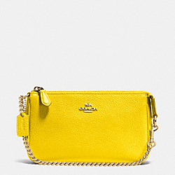COACH F53077 Nolita Wristlet 19 In Pebble Leather LIYLW