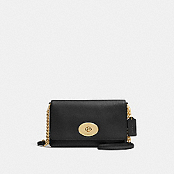 COACH F53083 Crosstown Crossbody BLACK/LIGHT GOLD
